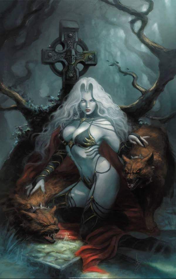 Pin By Fausto Mefistofeles On Hqs Lady Death Fantasy Art Women Dark Fantasy Art Lady Death