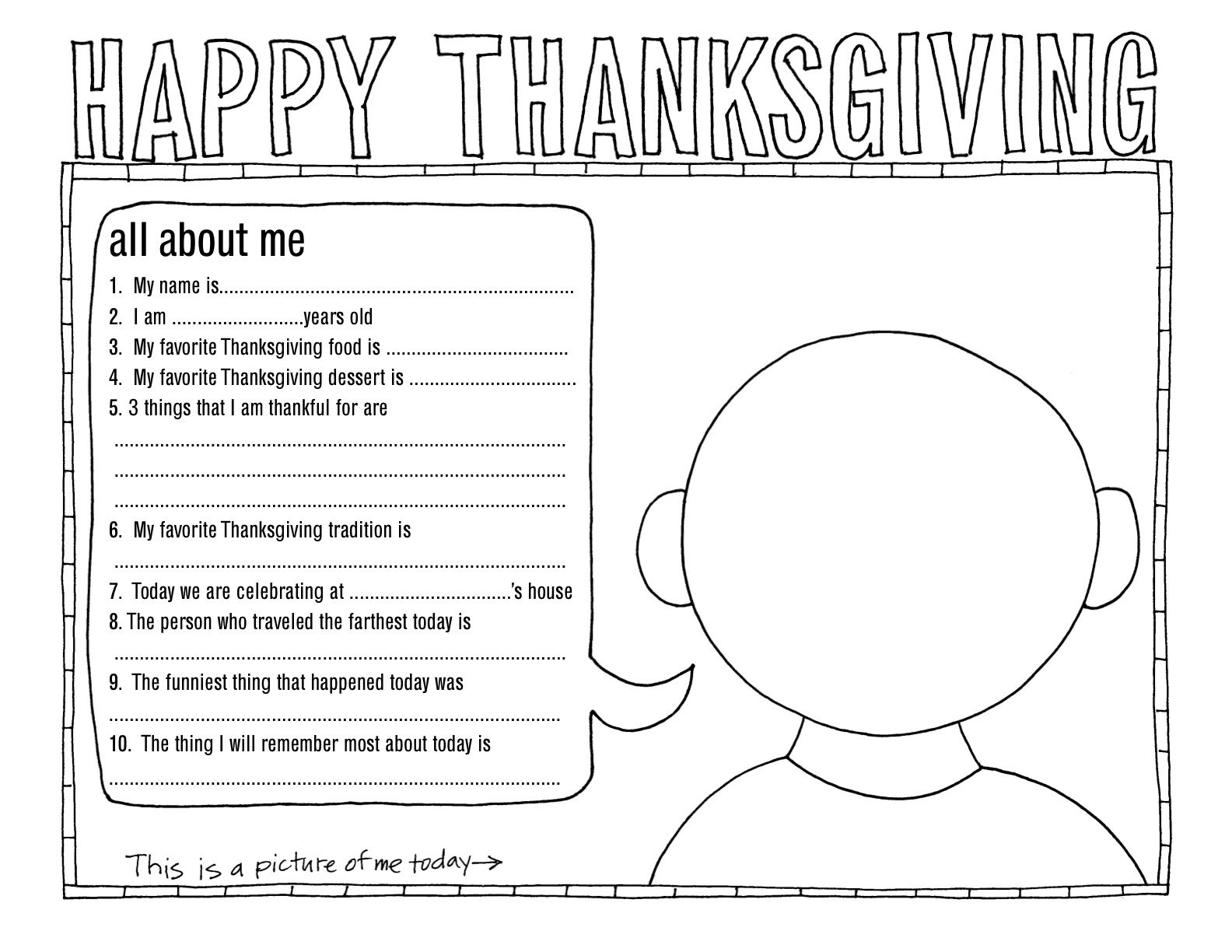 Better homes u gardens thanksgiving placemat all about me even