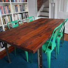 West Elm, Industrial Reclaimed Wood Dining Table