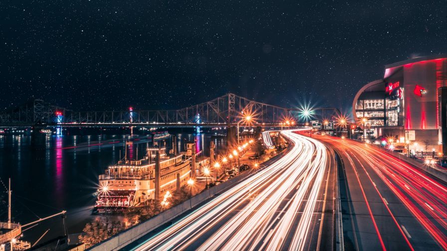 Road City Lights Hd Wallpaper Night City City Lights Wallpaper