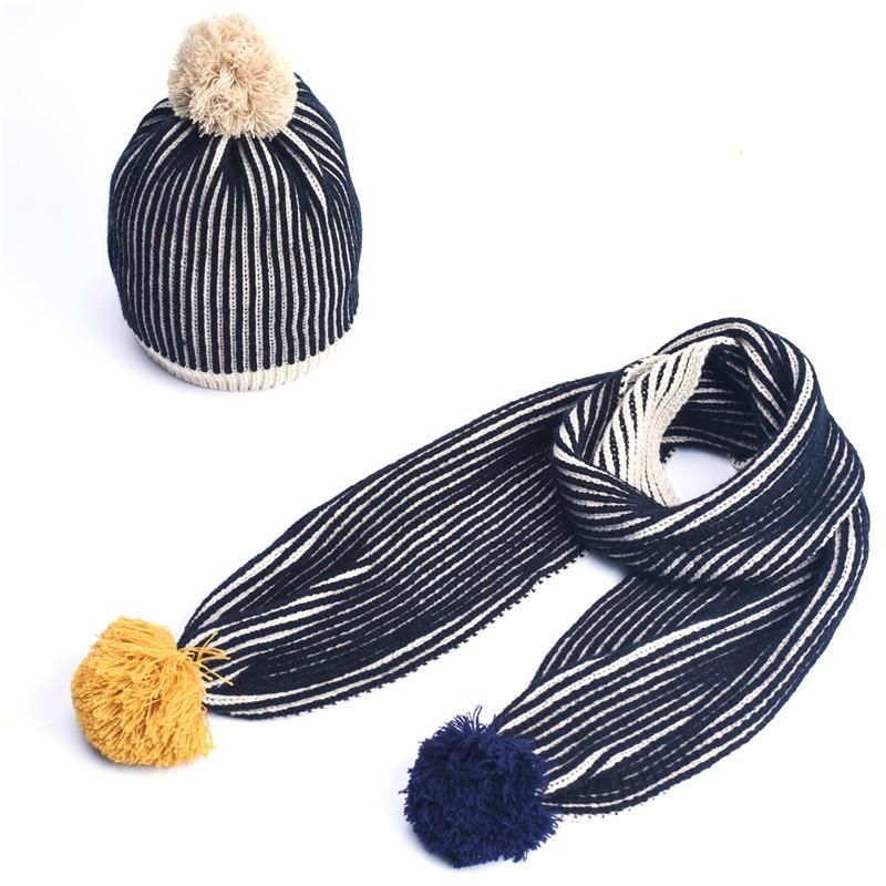 Autumn Winter Baby Boys Girls Kids Toddler Hat Scarf Set Warm ...