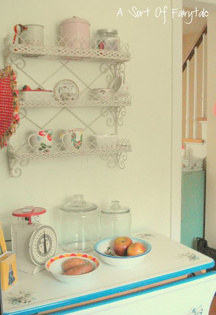 Funky Junk Interiors: Sat Nite Special link party #124 - vintage kitchen idea