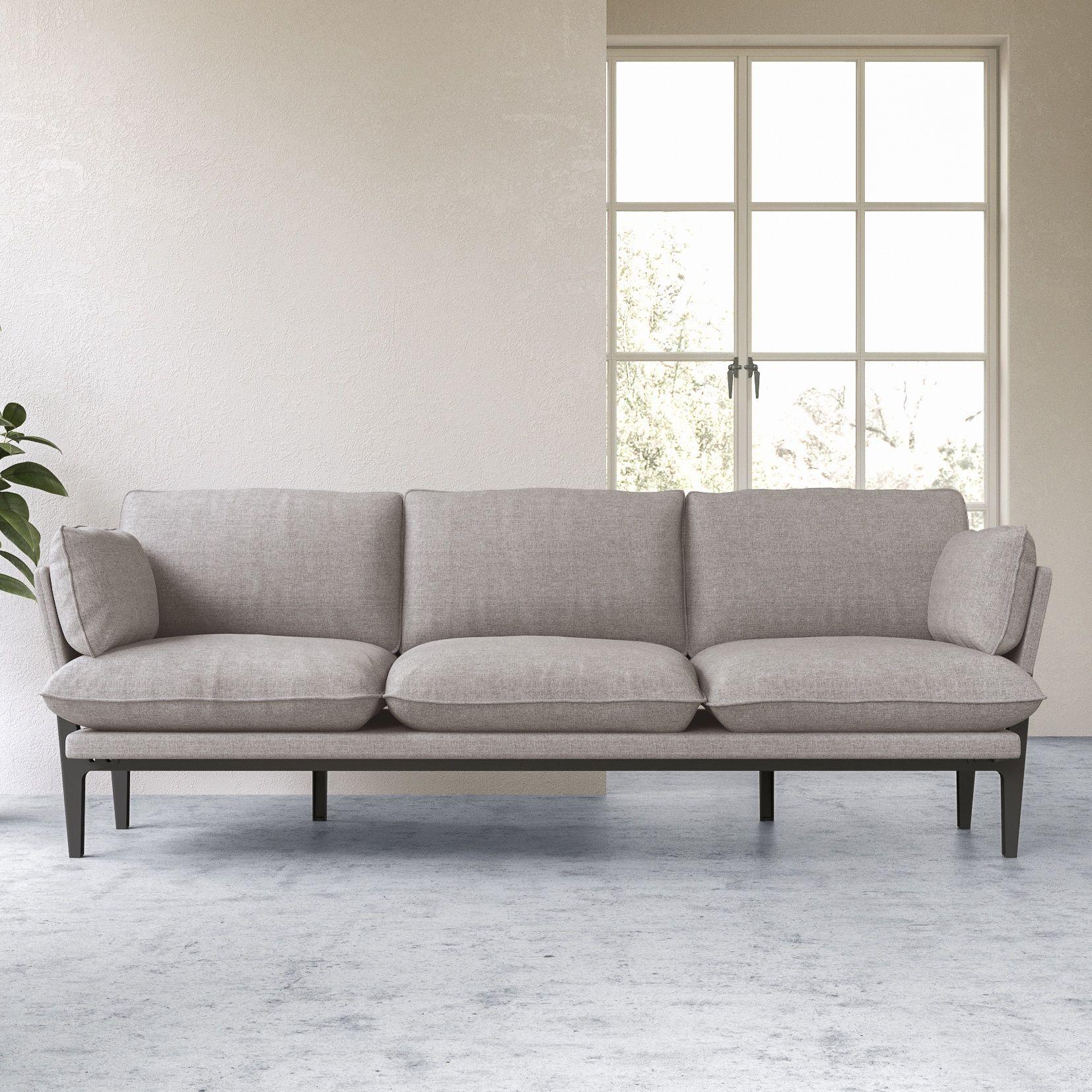 The Floyd Sofa 3 Seater Grey Wood Frame Modern Sofas Mobel Sofa Sofa Design Modernes Sofa