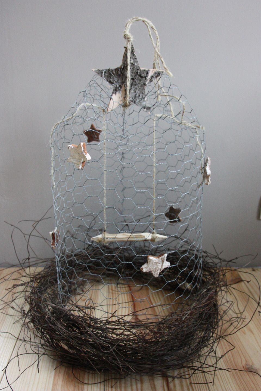 Cage cloche nid en grillage de poule toiles centre de - Grillage de poule ...