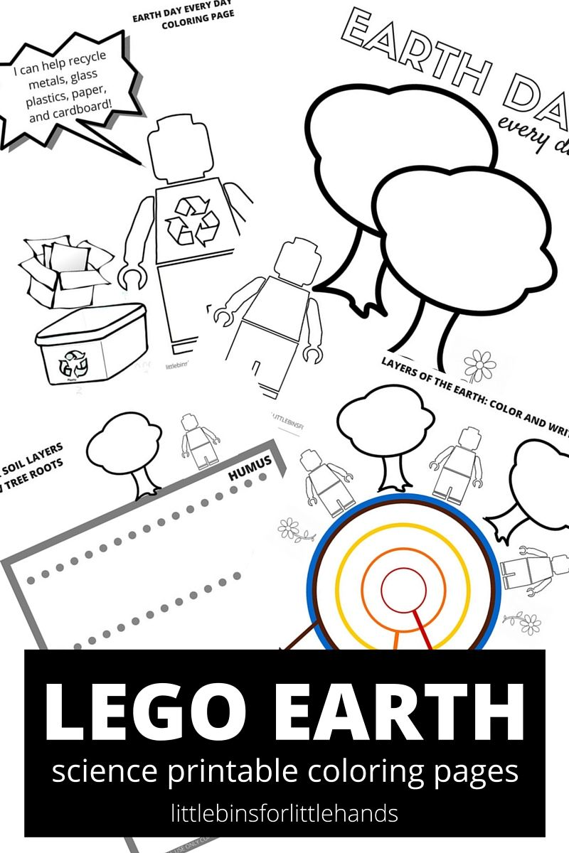 LEGO Earth Science Coloring Pages Earth Day Activities | Earth Day ...
