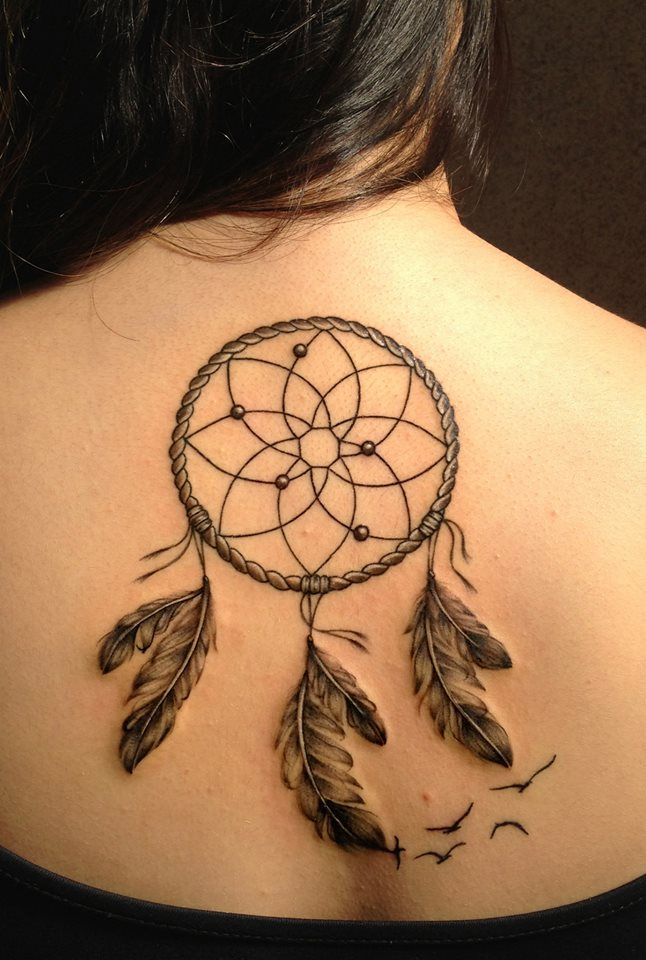 Dreamcatcher with birds back/apanhador de sonhos com ...