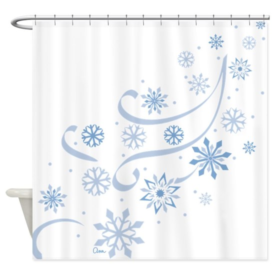Snowflakes Shower Curtain By Graphicdog Snowflake Shower Unique