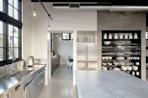 Industrial Style Küche Design-Ideen (wunderbare Bilder) - küche dekorieren ideen