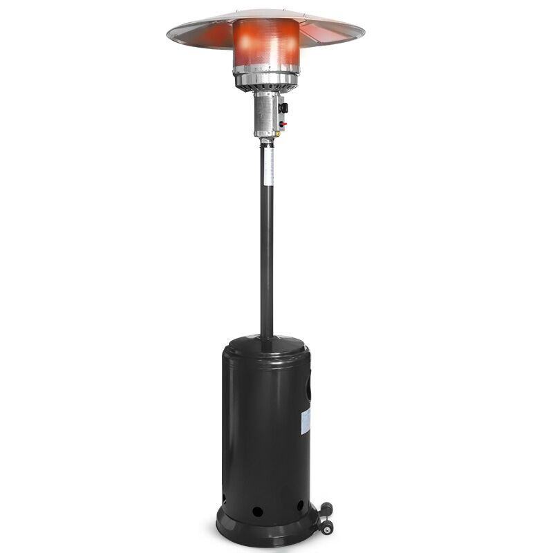 This is our mushroom standing patio heater, which will