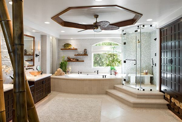 design a soothing bathroom. | Antique ceiling fans, Wooden ...
