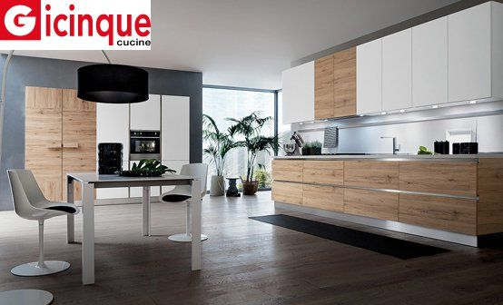 Con la cucina Oslo di Gicinque il calore del legno sposa il design ...
