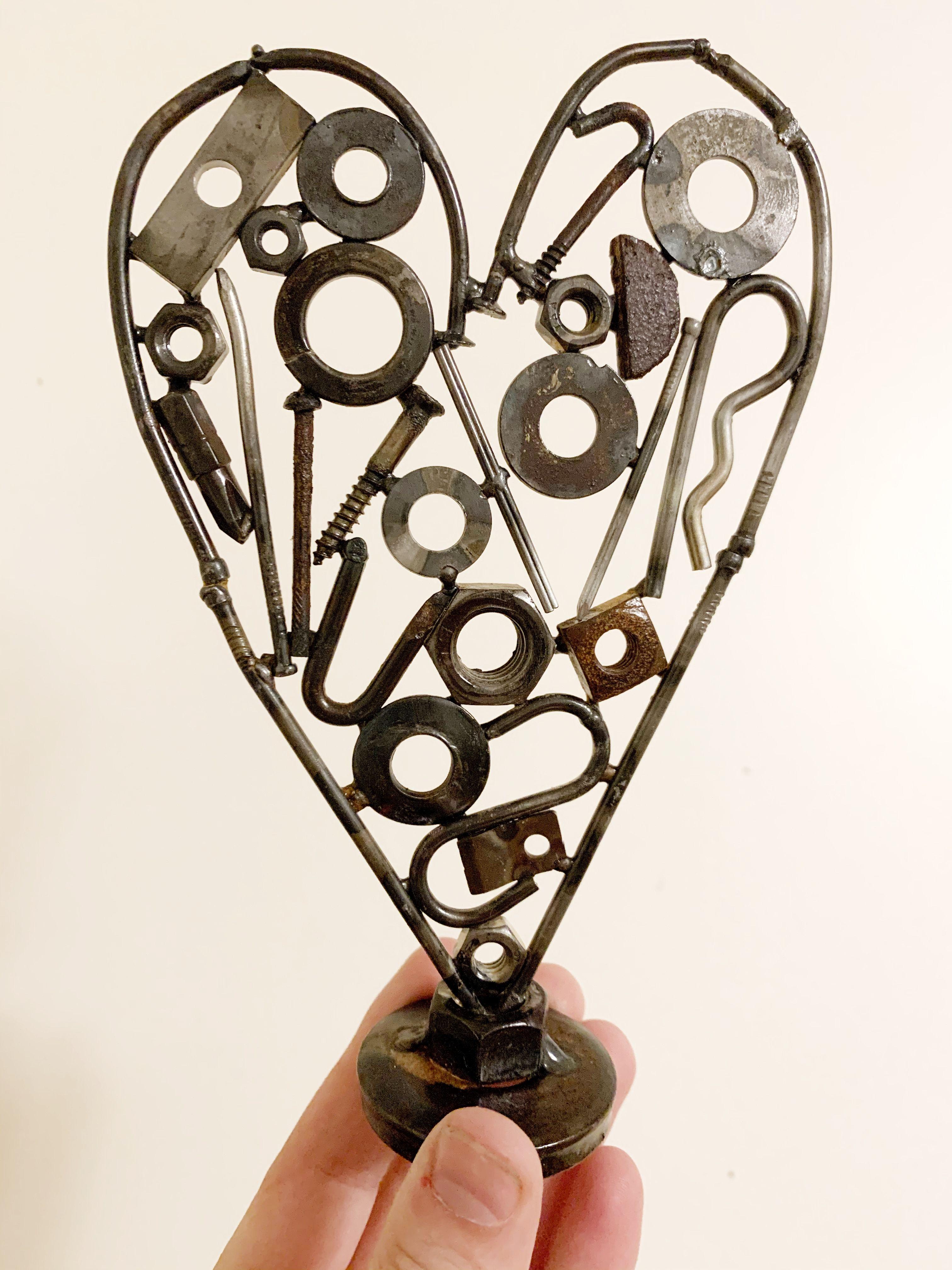 Metal Heart Art Scrap Metal Art Metal Art Metal Art Welded