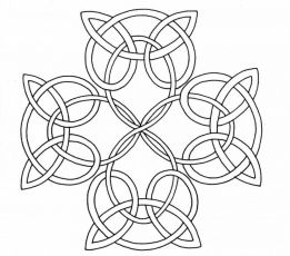 Celtic Knot Coloring Page Celtic Cross Celtic Coloring