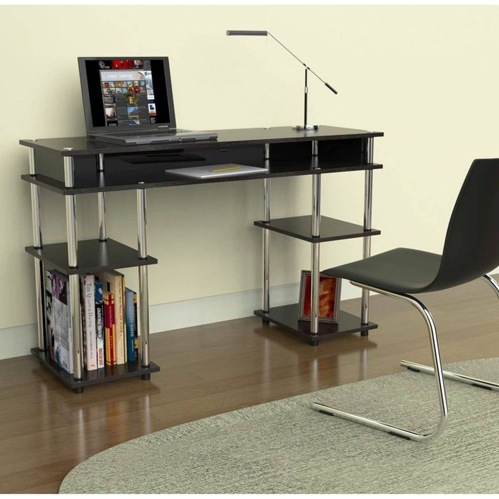 Student Home Desk Black Small Computer Kids Table School Stainless