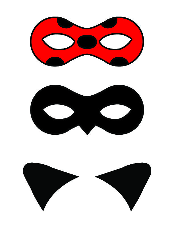 DIY: Miraculous: Tales of Ladybug and Cat Noir Masks | פורים purim ...