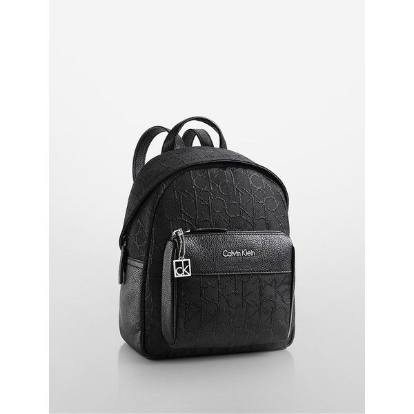 best service 6e0ec 5c0a0 Calvin Klein Women s Hailey City Backpack (4.845 RUB) ❤ liked on Polyvore  featuring bags, backpacks, black, pattern backpack, calvin klein, calvin  klein ...