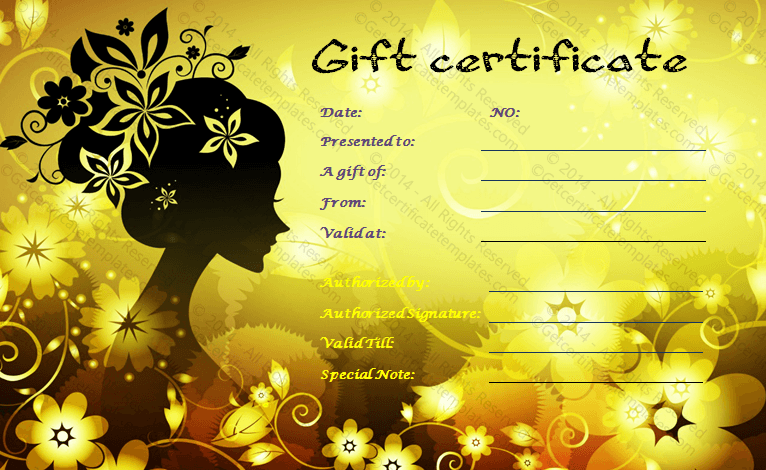 Gift Certificate Template – Gift Card Samples Free