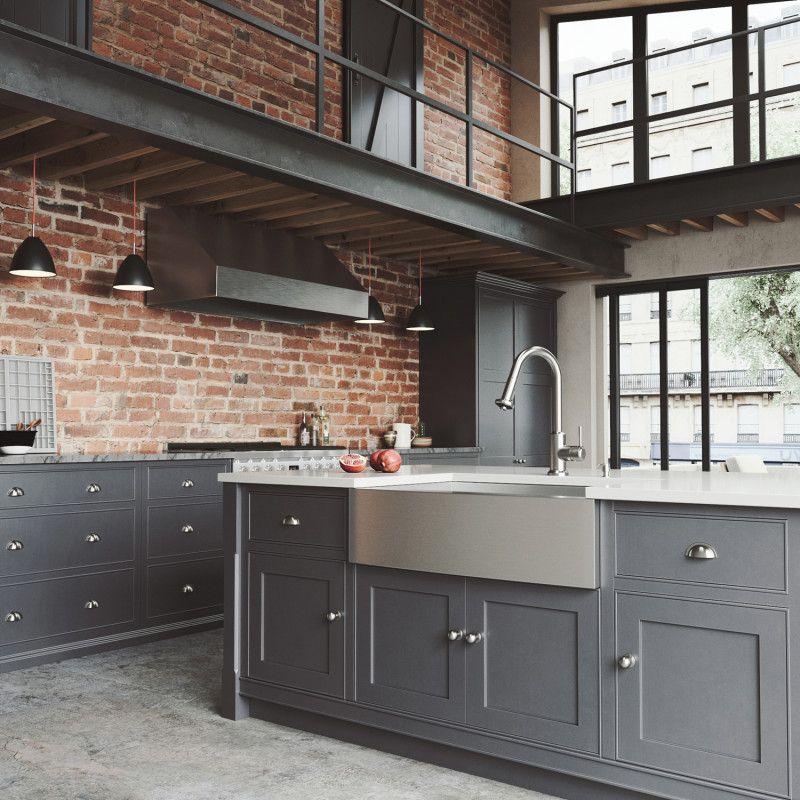 Vigo All In One 33 Camden Stainless Steel Farmhouse Kitchen Sink