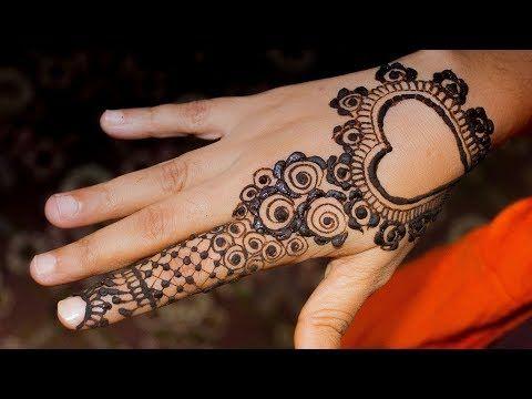 Mehndi Fingers Designs : Lovely heart mehndi design one finger valentines day
