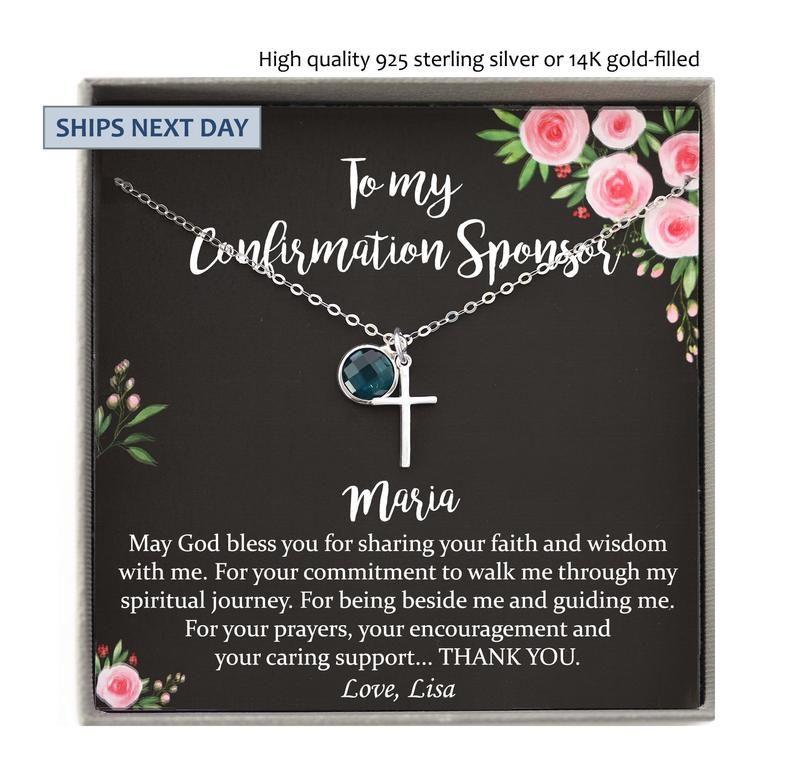 Confirmation sponsor gift for women catholic sponsor gifts