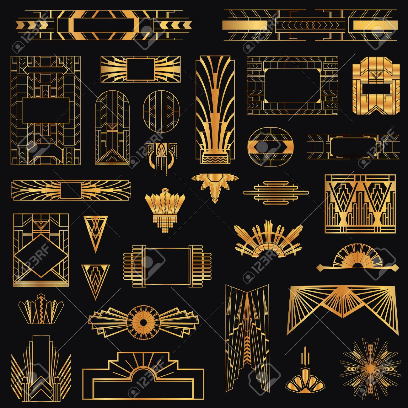 Art Deco Vintage Rahmen und Design-Elemente | Дизайн | Pinterest ...