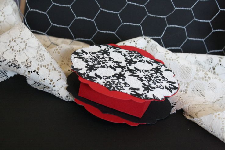 Red, black and white gift box