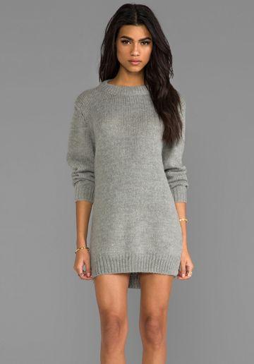 fa62f05afab Cheap Monday Oregon Sweater Dress in Grey Melange