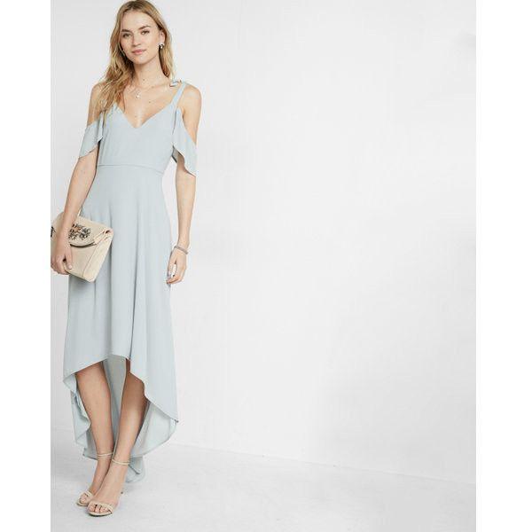 Express Cold Shoulder Maxi Dress (115 CAD) ❤ liked on Polyvore ...