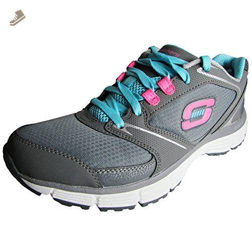 Skechers Agility Rewind Womens Sneakers CharcoalBlue 95  Skechers  sneakers for women