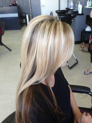 Crown Highlights And Low Lights With Images Blonde Hair With