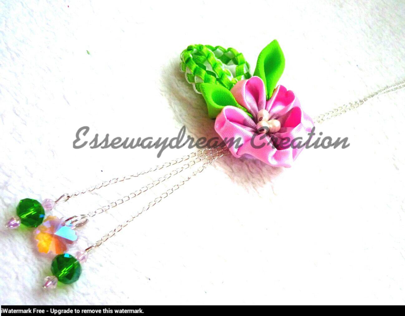 cherry flower necklace
