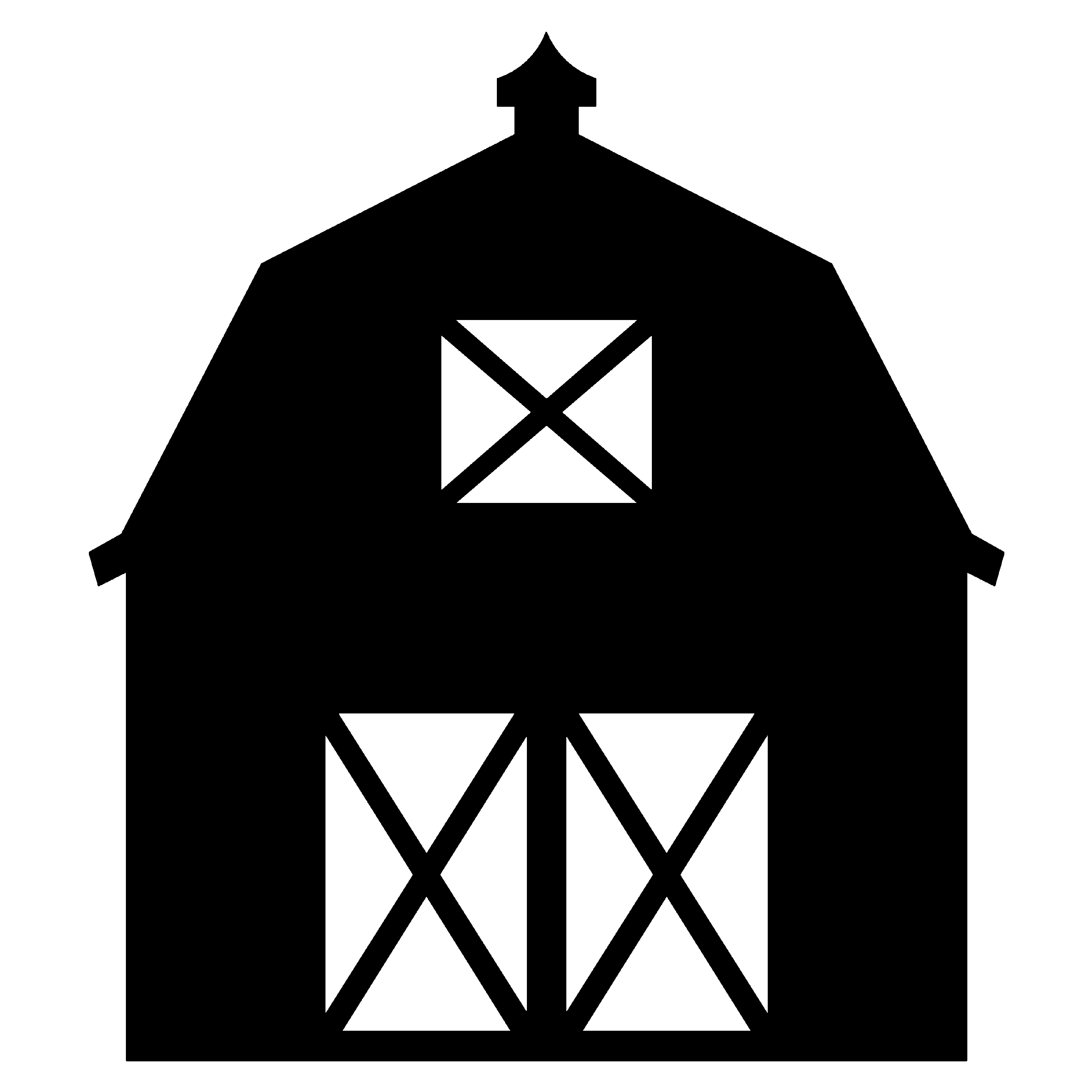 Barn Silhouette Surrounded By Shrubs Clipart Free Clip Art Images Silhouette Clip Art Clip Art Silhouette Stencil