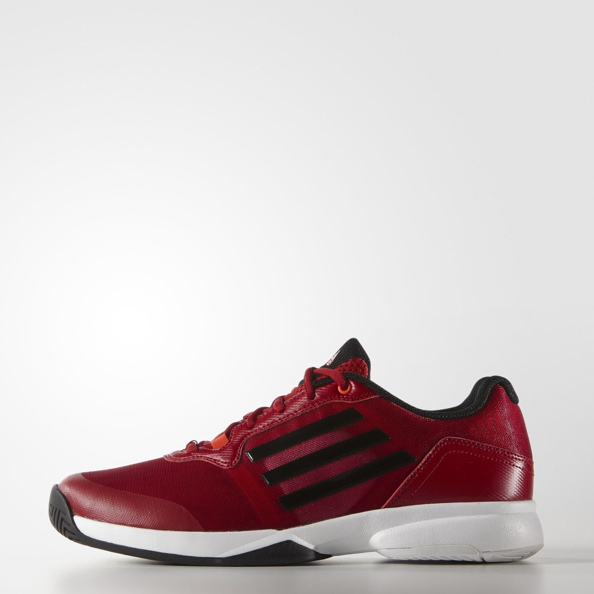 Adidas Mens Sonic Court Tennis Shoes Red Core Black With Images Adidas Men Adidas Tennis Shoes