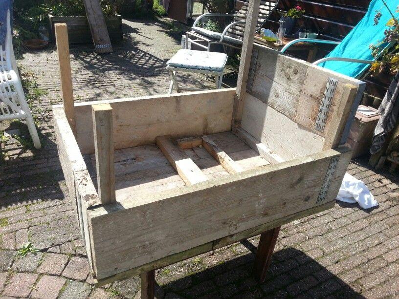 Steigerhouten Tafel Maken : Steigerhouten tafel maken tuin zelf tafel maken