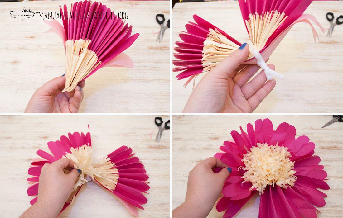 Flores gigantes de papel proyectos que debo intentar - Www como hacer flores com ...