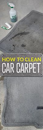 How to Clean Car Carpet #cleaningcars