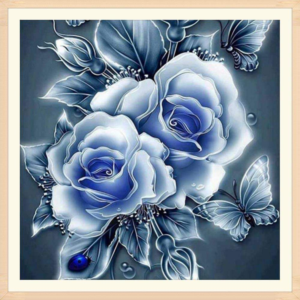 Rose Floral 5D Diamond Embroidery Painting DIY Cross Stitch Craft Home Decor NEW