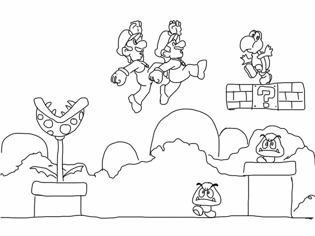 Awesome Super Mario Bros Coloring Pages Gallery Printable ...