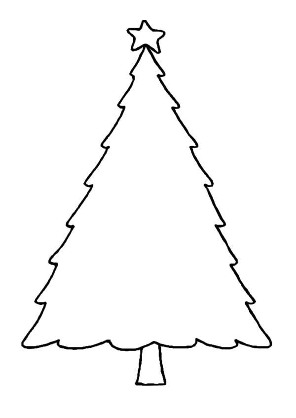 Christmas Trees Christmas Trees Outline Coloring Pages Christmas Trees Outline Co Christmas Tree Outline Christmas Tree Coloring Page Christmas Tree Template