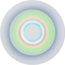 Photo of Marset Concentric L wall lamp, corona (fluorescent colors) Marset