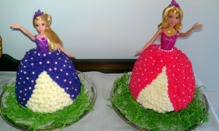 My Twin Sisters Barbie Birthday Cakes The Girls Loved Sugar Coated For Their 3rd In April