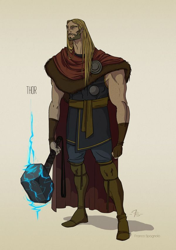 THE AVENGERS: Concept Characters Design by Franco Spagnolo, via Behance