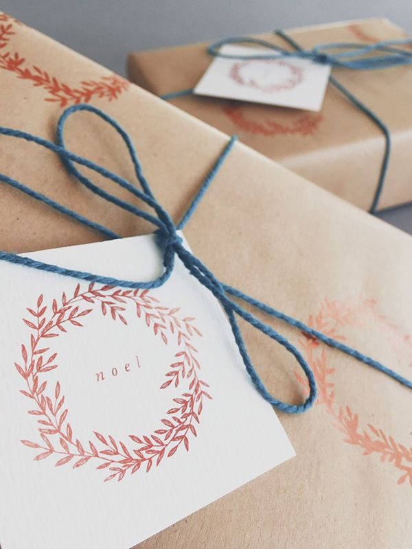 Die schönsten Geschenkanhänger zu Weihnachten gratis zum Ausdrucken.