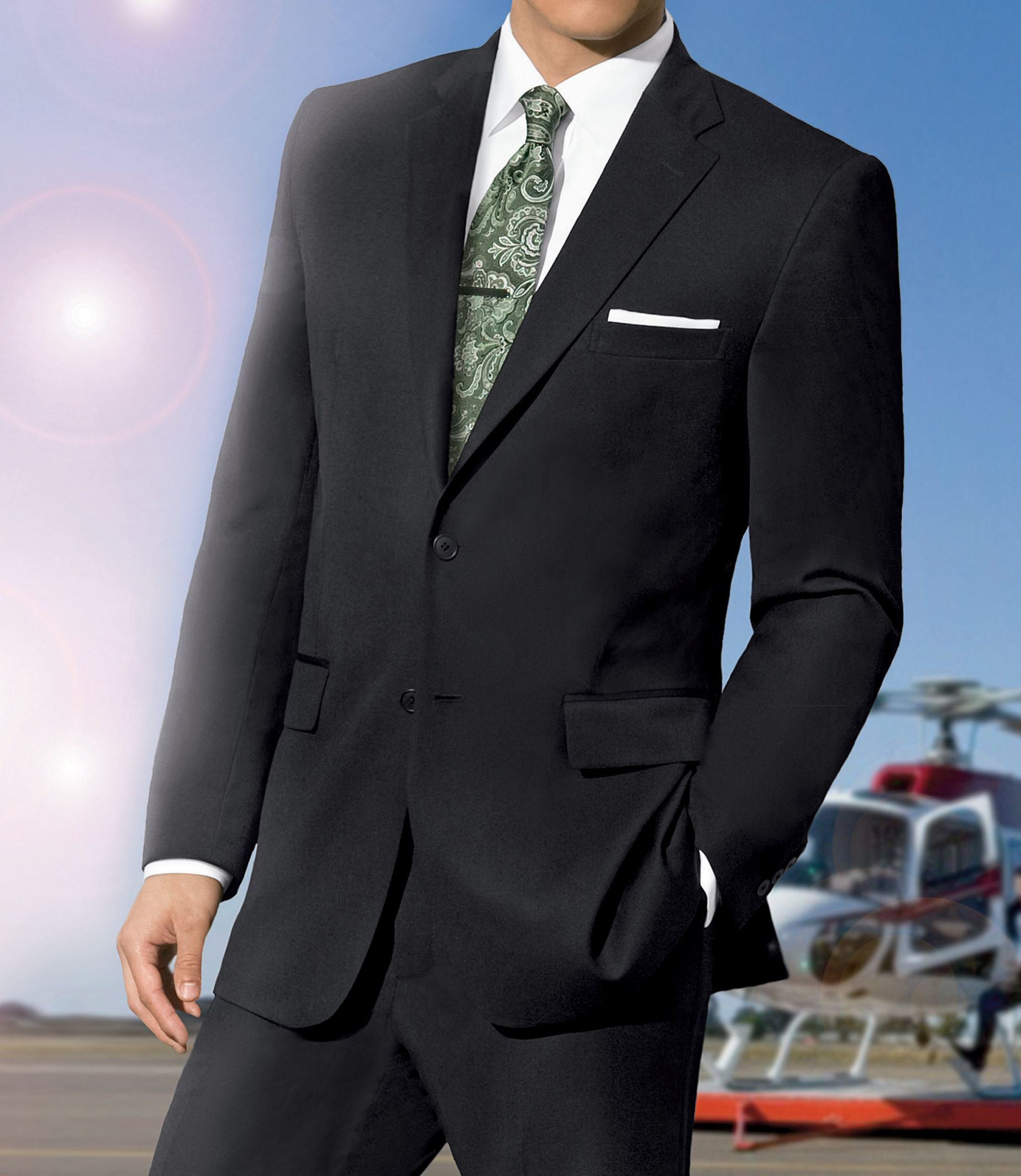 Traveler Tailored Fit 2 Button Suits Plain Front Big and