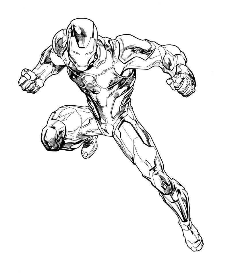 Tom Raney Iron Man Inks By Josephlsilver Deviantart Com On