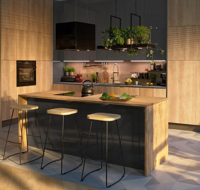 Praktyczna I Przytulna Kuchnia Leroy Merlin Modern Kitchen Home Decor Open Kitchen
