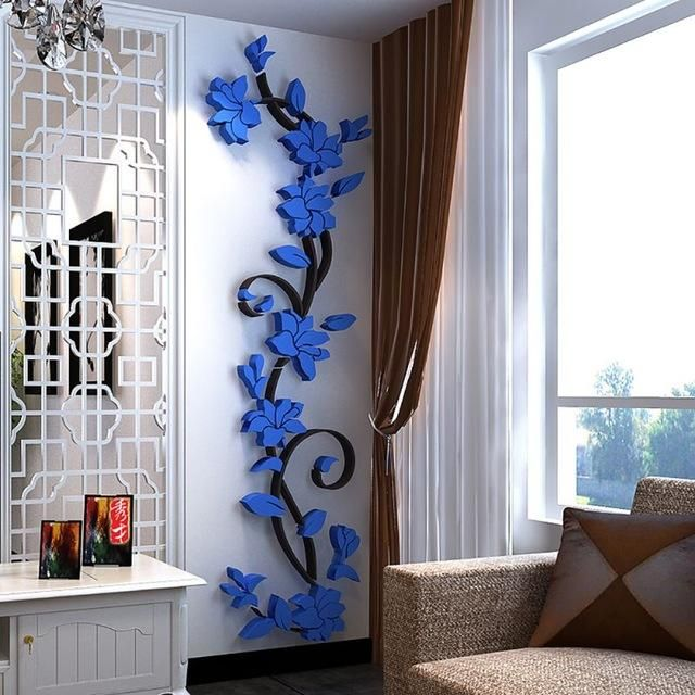 3d diy vase flower tree removable art vinyl wall stickers decal