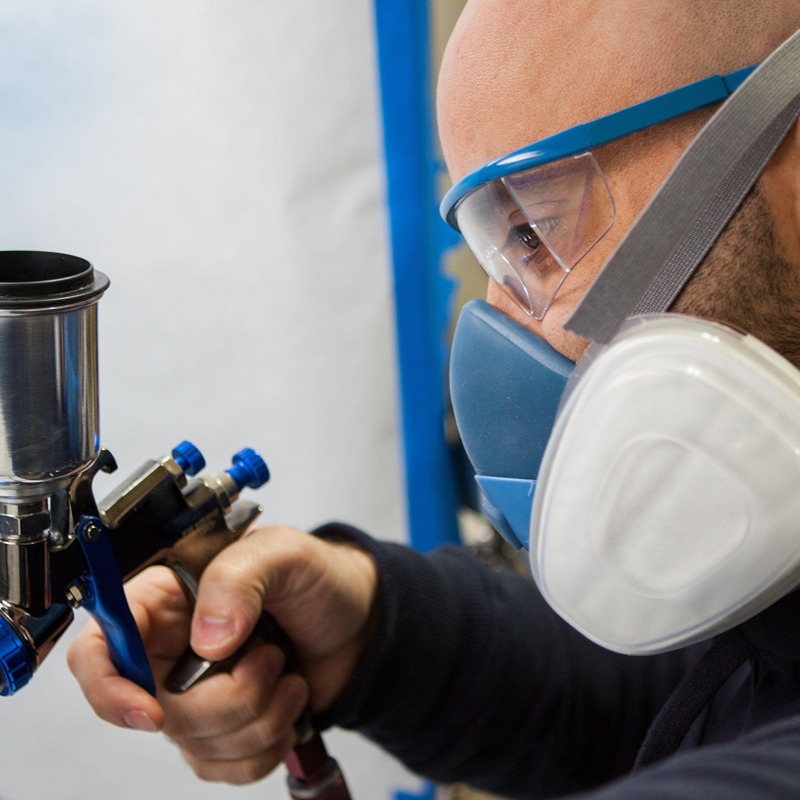 Breath buddy respirator mask plus safety glasses reusable