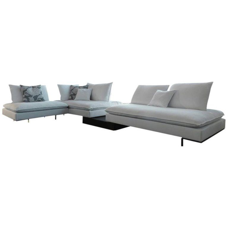 Italian Modular Sectional Sofa With Wooden Back Shelf And Bench Modern Design Modular Sectional Sofa Modern Sofa Sectional Italian Sofa Designs