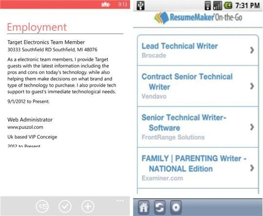 6 resume builder apps for job hunters weekly smartphone app http